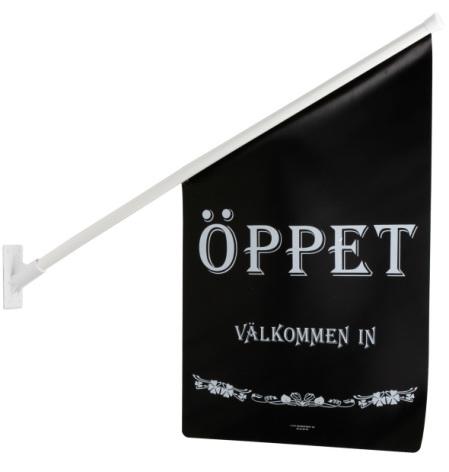 FLAGGA ÖPPET SVART/VIT