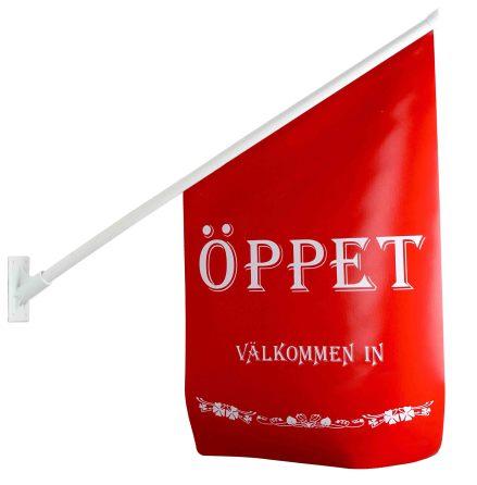 FLAGGA ÖPPET RÖD/VIT
