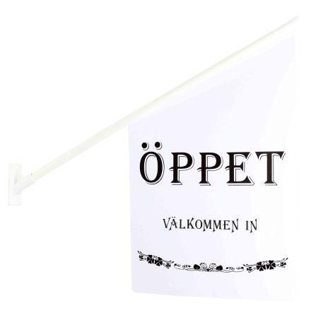 FLAGGA ÖPPET VIT/SVART